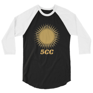 "5CC Wrestling ""5CC Logo"" Unisex 3/4 Sleeve Raglan Shirt"