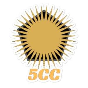 """5CC Wrestling """"5CC Logo"""" Bubble-free stickers"""