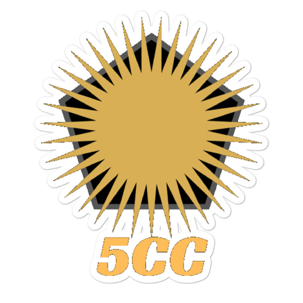 "5CC Wrestling ""5CC Logo"" Bubble-free stickers"