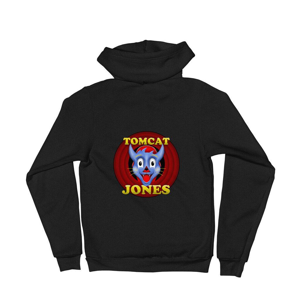 """Tomcat Jones """"Cartoon Logo"""" Unisex Zip Up Hoodie"""