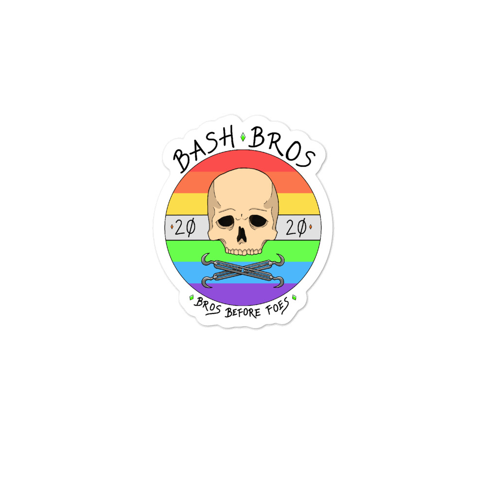 "The Bash Bros ""Pride Bros"" Bubble-free stickers"