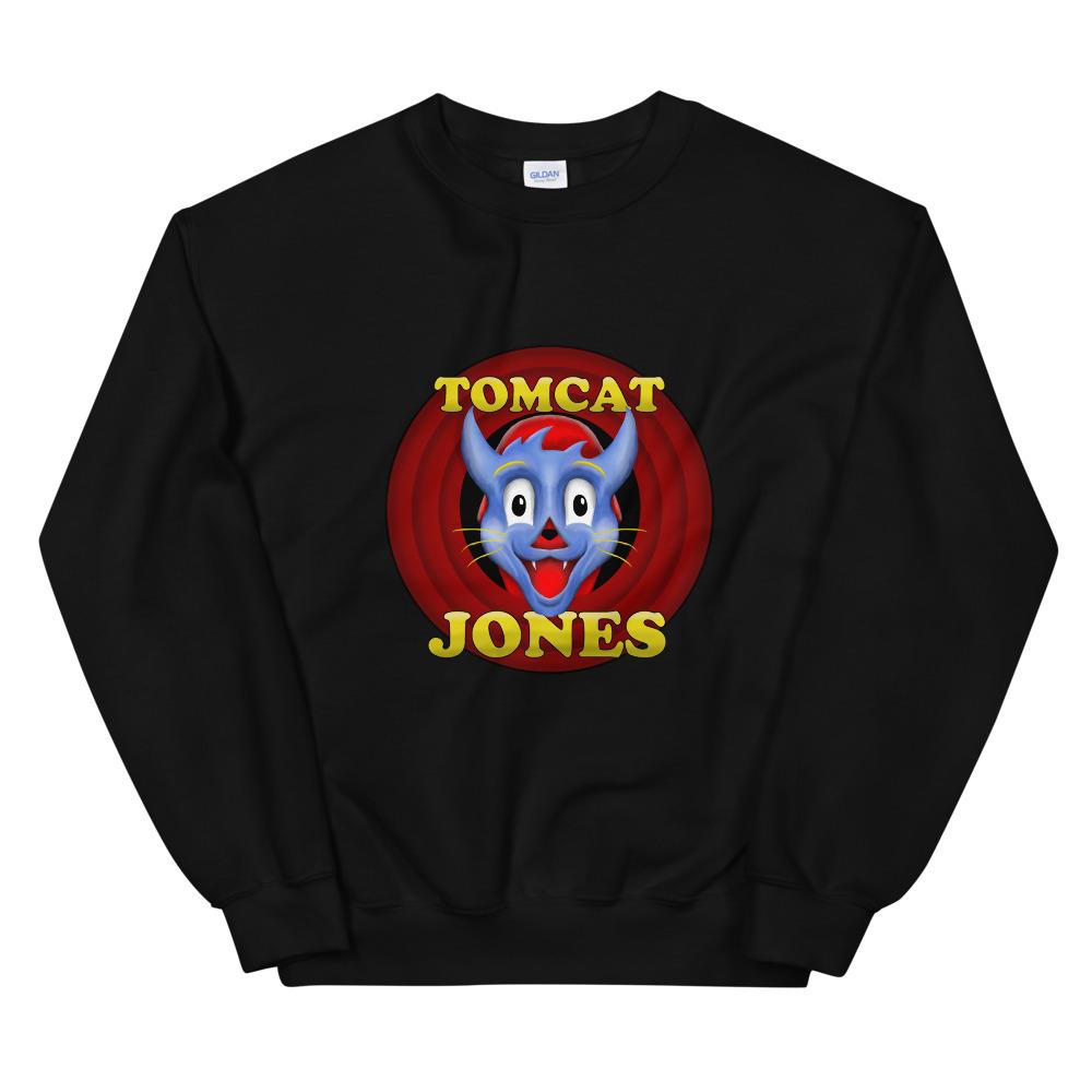 """Tomcat Jones """"Cartoon Logo"""" Unisex Sweatshirt"""