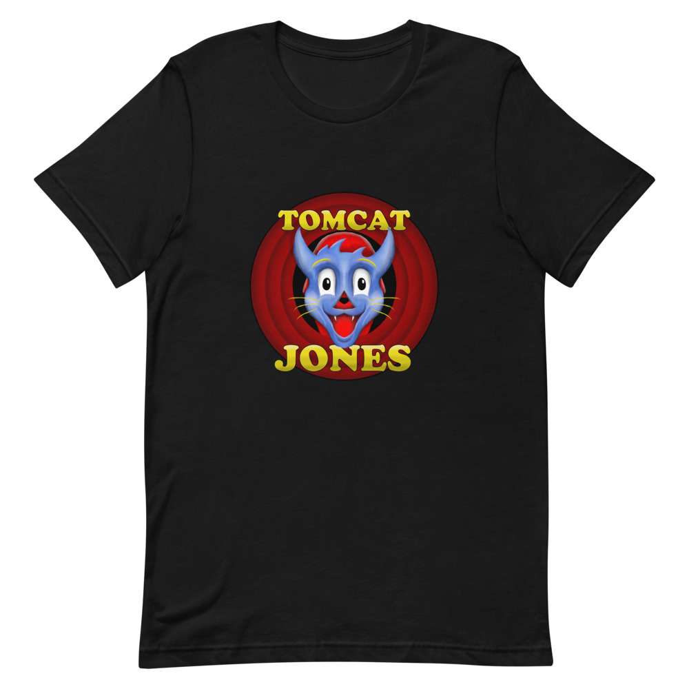 "Tomcat Jones ""Cartoon Logo"" Short-Sleeve Unisex T-Shirt"