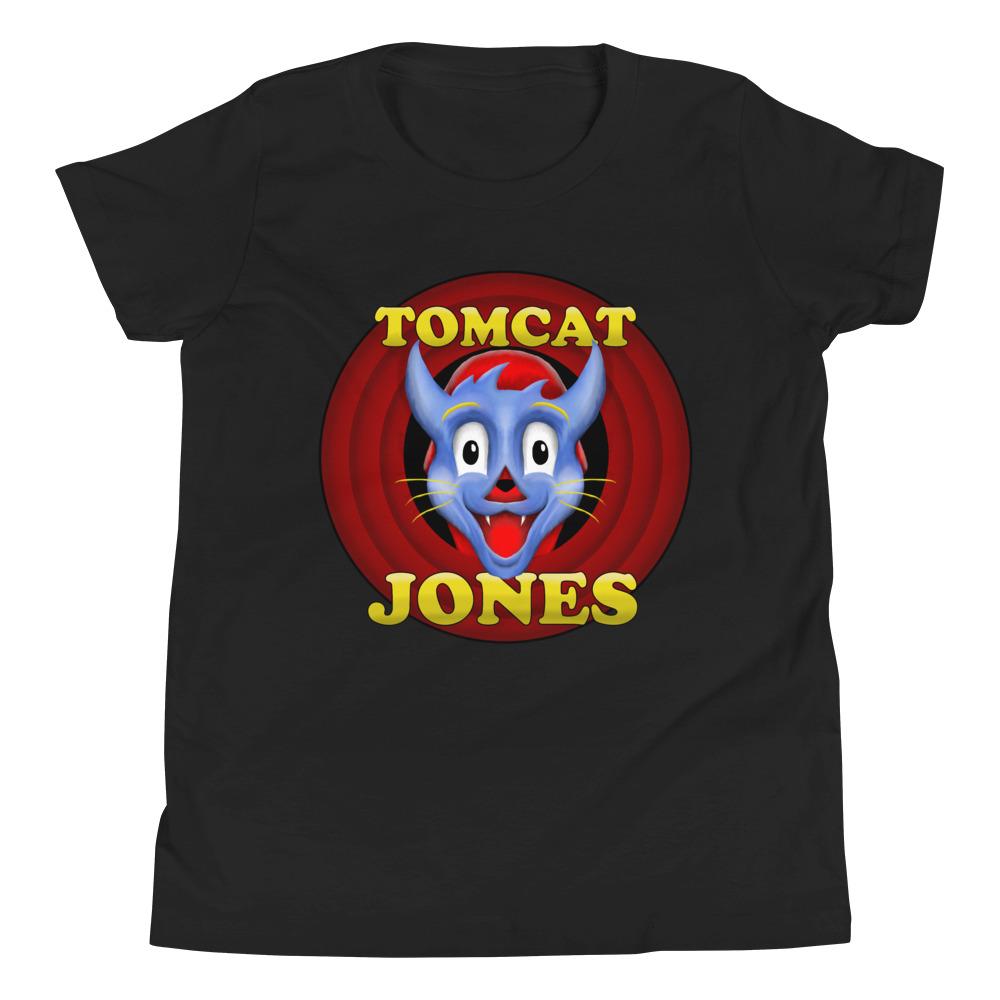 "Tomcat Jones ""Cartoon Logo"" Youth Short Sleeve T-Shirt"