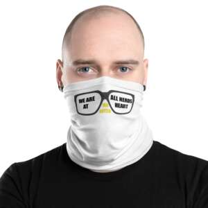 """5CC Wrestling """"Ian Hutch: We Are All Nerds"""" Neck Gaiter Face Mask"""
