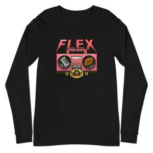 "The Flex Network ""The Flex Network Emblem"" Unisex Long Sleeve Shirt"