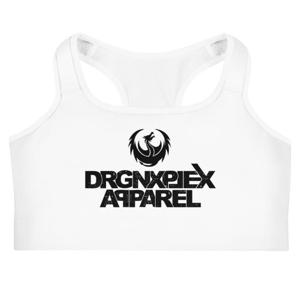 "DRGNxPLEX Apparel ""OG"" Sports Bra - White, XS"