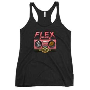 "The Flex Network ""The Flex Network Emblem"" Women's Racerback Tank"