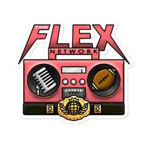 "The Flex Network ""The Flex Network Emblem"" Bubble-free stickers"