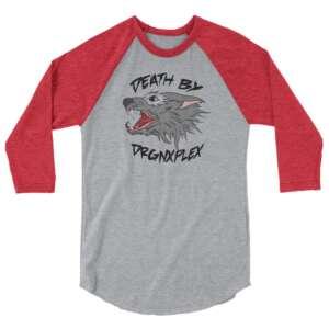"DRGNxPLEX Apparel ""Death by DRGNxPLEX"" 3/4 sleeve raglan shirt"