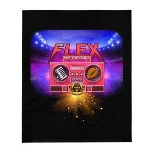 "The Flex Network ""New Logo"" Throw Blanket"