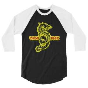 "DRGNxPLEX Apparel ""Never Say Die"" 3/4 sleeve raglan shirt"