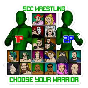 """5CC Wrestling """"Choose Your Warrior!"""" Bubble-free stickers"""
