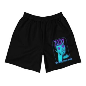 """Jody Himself """"The Party Never Ends"""" Athletic Long Shorts"""