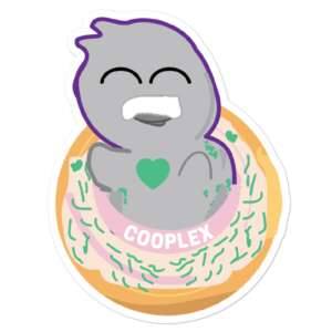 """COOPLEX """"""""Good Morning, I Love You"""" by HeadCheese Designs"""" Bubble-free stickers"""