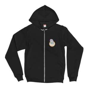 """COOPLEX """"""""Good Morning, I Love You"""" by HeadCheese Designs"""" Unisex Zip Up Hoodie"""