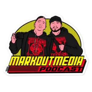 """Markoutmedia Podcast """"80's Wrestling"""" Bubble-free stickers"""