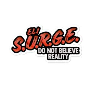 """Eli Surge """"D4RE TO BE DIFFERENT"""" Bubble-free stickers"""