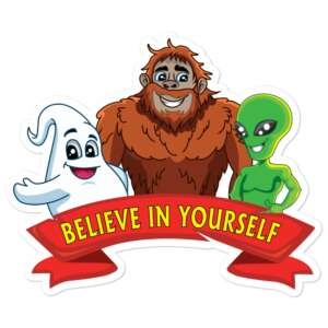 """Eli Surge """"BELIEVE IN YOURSELF"""" Bubble-free stickers"""