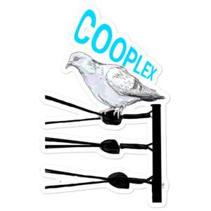 """COOPLEX """"TOP ROPE! by Stephen Pike"""" Bubble-free stickers"""