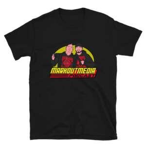 """Markoutmedia Podcast """"80's Wrestling"""" Short-Sleeve Unisex T-Shirt"""