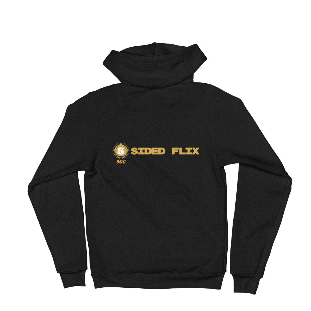 "5CC Wrestling ""5-Sided Flix"" Unisex Zip Up Hoodie"