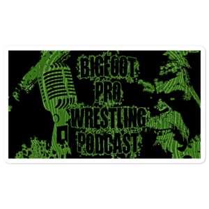 "Bigfoot Pro Wrestling Podcast ""Sasquatch"" Bubble-free stickers"