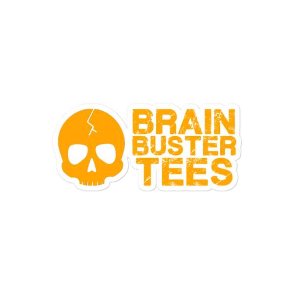 """Brainbuster Tees """"Logo"""" Bubble-free stickers"""