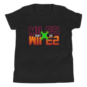 """Don't Die Miles """"Don't Die x HunterxHunter"""" Youth Short Sleeve T-Shirt"""