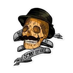 "Sonny Defarge ""Business Is Good - Skull"" Bubble-free stickers"