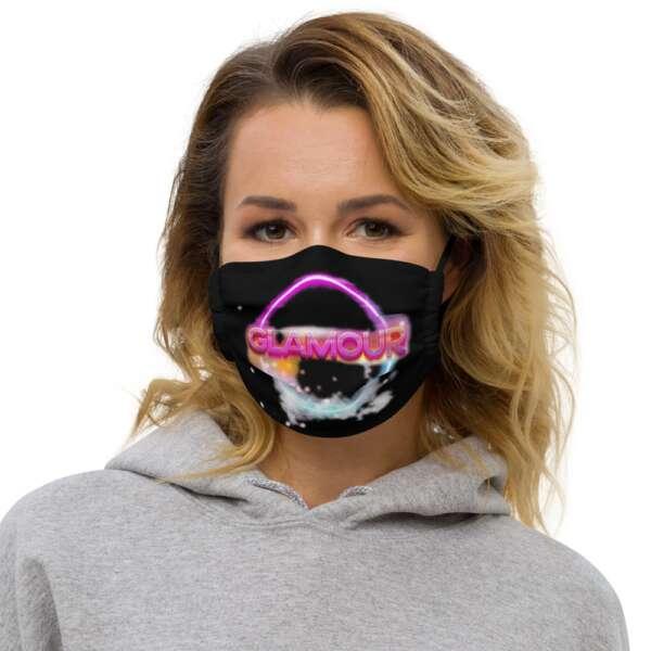 "GLAMOUR ""Logo"" Premium face mask"