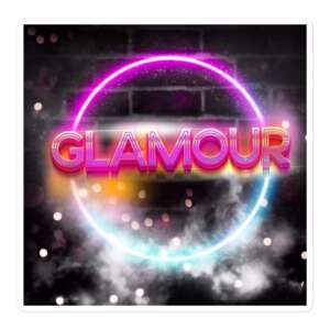 """GLAMOUR """"Logo"""" Bubble-free stickers"""