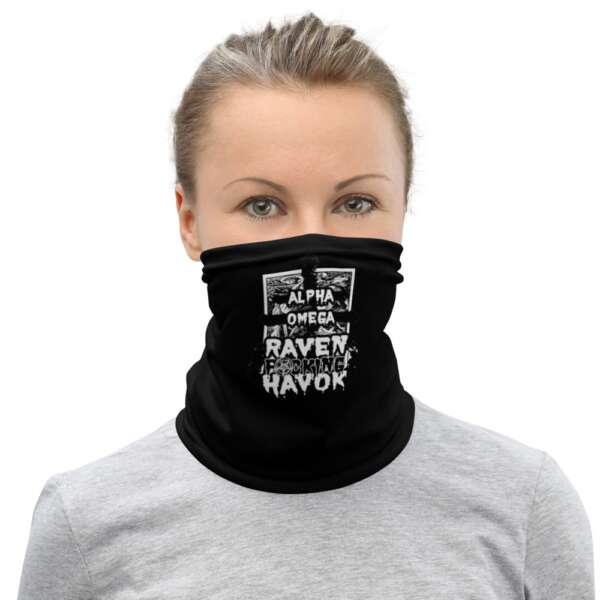 """Raven Havok """"Alpha Omega (original design)"""" Neck Gaiter Face Mask"""