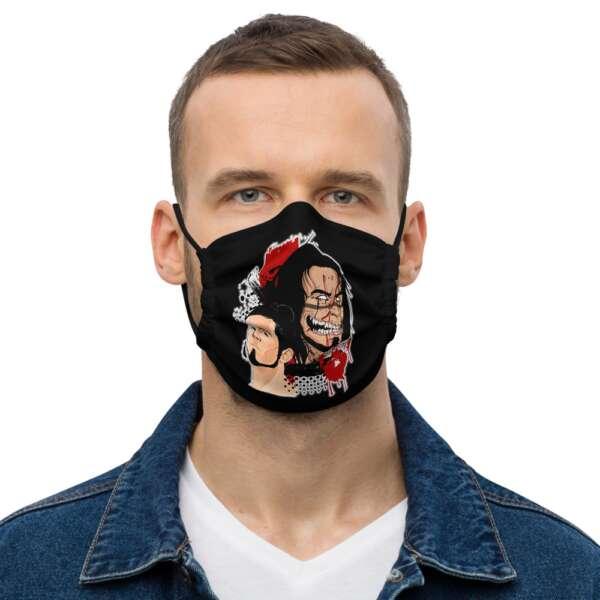 "Raven Havok ""Jekyll And Hyde"" Premium face mask"