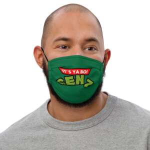 """Gen Z """"Did Someone Say Pizza?"""" Premium face mask"""