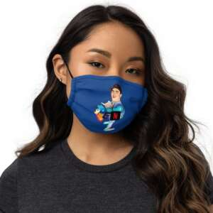 """Gen Z """"Are You Still Watching?"""" Premium face mask"""