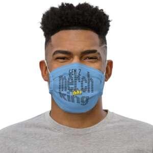 """Gen Z """"Merch King"""" Premium face mask"""