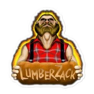 """LumberZack """"Broken Glass"""" Bubble-free stickers"""