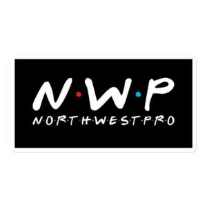 """North West Pro """"NWP Friends"""" Bubble-free stickers"""