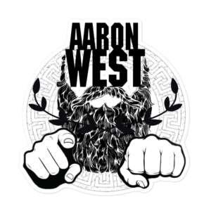 """Aaron West """"Beard Power"""" Bubble-free stickers"""