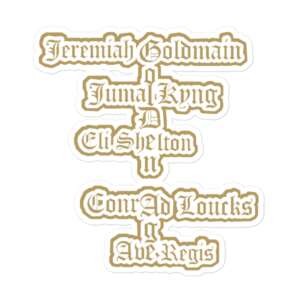 "Jeremiah Goldmain ""Golden Age pt2"" Bubble-free stickers"