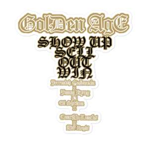 "Jeremiah Goldmain ""Golden Age pt3"" Bubble-free stickers"