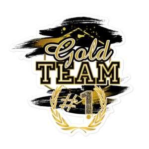 "Jeremiah Goldmain ""Gold Team"" Bubble-free stickers"