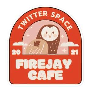"""Ivan Firejay """"Firejay Cafe"""" Bubble-free stickers"""