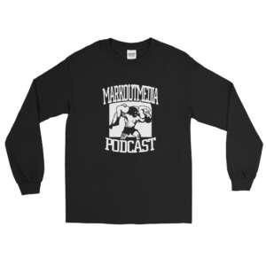 """Markoutmedia Podcast """"M.O.M. Logo"""" Unisex Long Sleeve Shirt"""