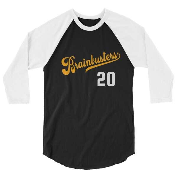 "Brainbuster Tees ""Softball"" 3/4 sleeve raglan shirt"