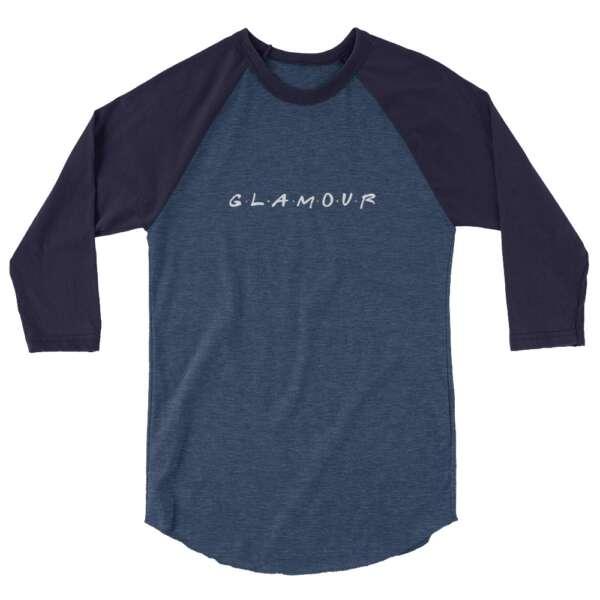 "GLAMOUR ""Glamour Friends"" 3/4 sleeve raglan shirt"