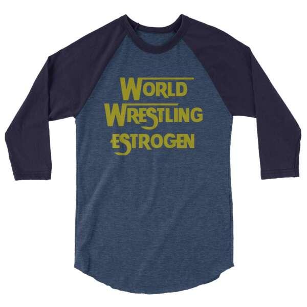 "Quing Garnet Neodonna ""WW*"" 3/4 sleeve raglan shirt"