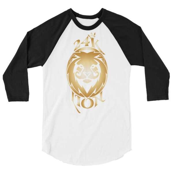 """Jeremiah Goldmain """"24KLP Alt Logo"""" 3/4 sleeve raglan shirt"""
