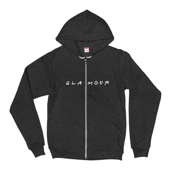"""GLAMOUR """"Glamour Friends"""" Unisex Zip Up Hoodie"""